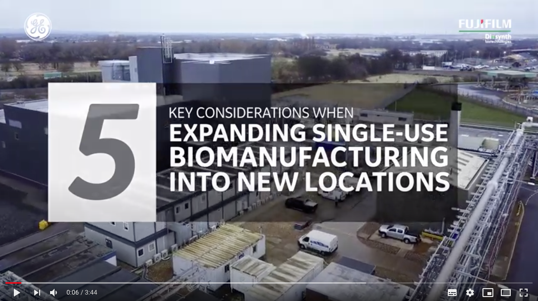 Video about 5 key considerations when expanding single use biomanufcaturing into new location